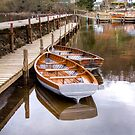 Wooden Boats at Balmaha, Scotland by Christine Smith