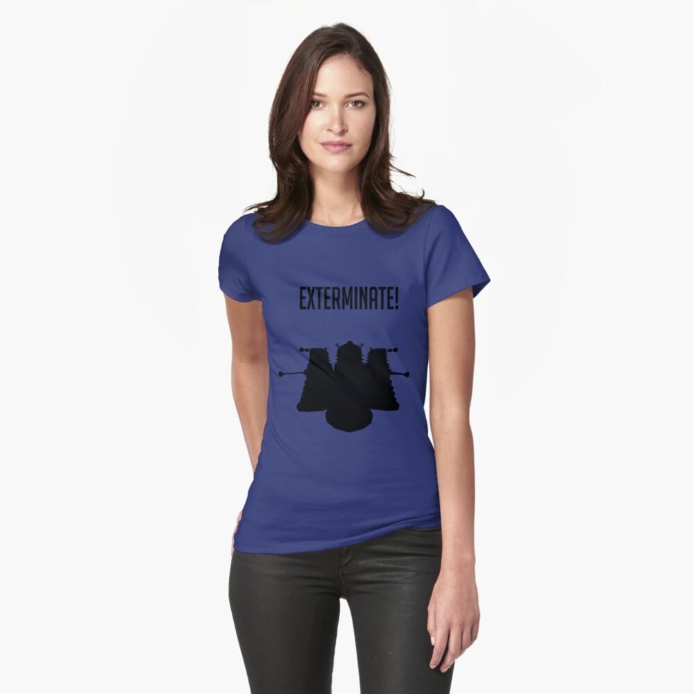 Exterminate! Dalek Silhouette  Womens T-Shirt Front