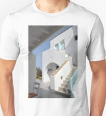 Beautiful white architecture from Greece  T-Shirt