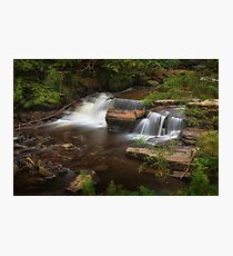Taf Fechan Forest waterfall Photographic Print