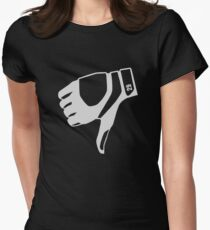thumbs down shirt Women's Fitted T-Shirt