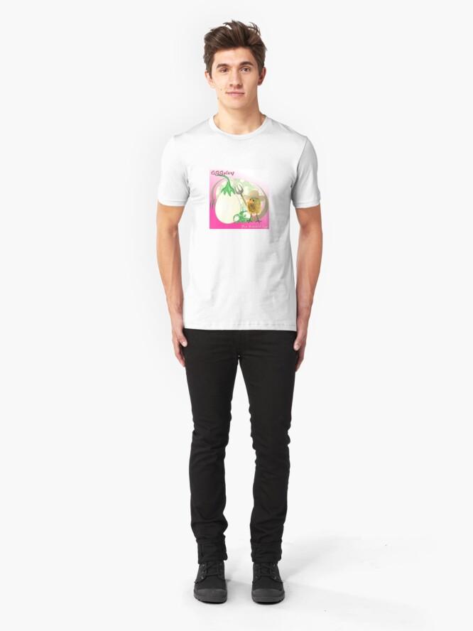 Alternate view of Two Scrambled Eggs - EGGplant Slim Fit T-Shirt