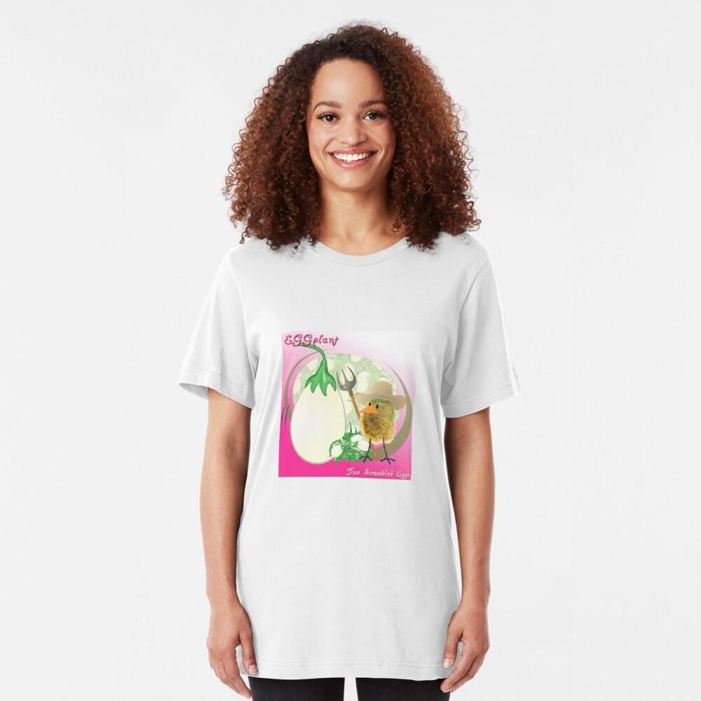 Two Scrambled Eggs - EGGplant Slim Fit T-Shirt