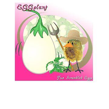 Two Scrambled Eggs - EGGplant by Kartoon