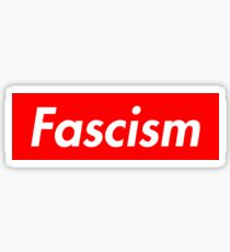 Fascism Box Logo Supreme Inspired Sticker