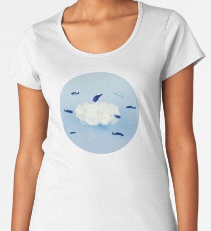 Wale um die Wolke Frauen Premium T-Shirts