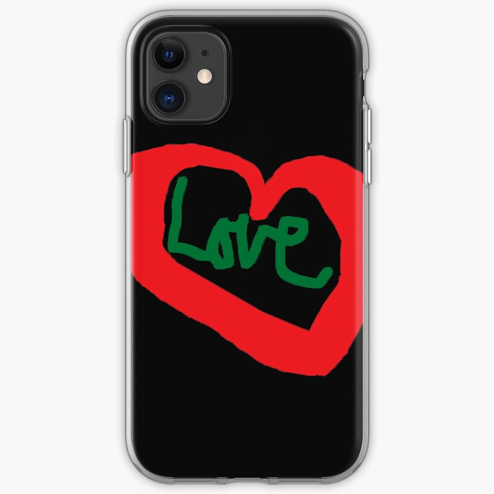 Love T Shirt Red Heart Love Saying  iPhone Case & Cover
