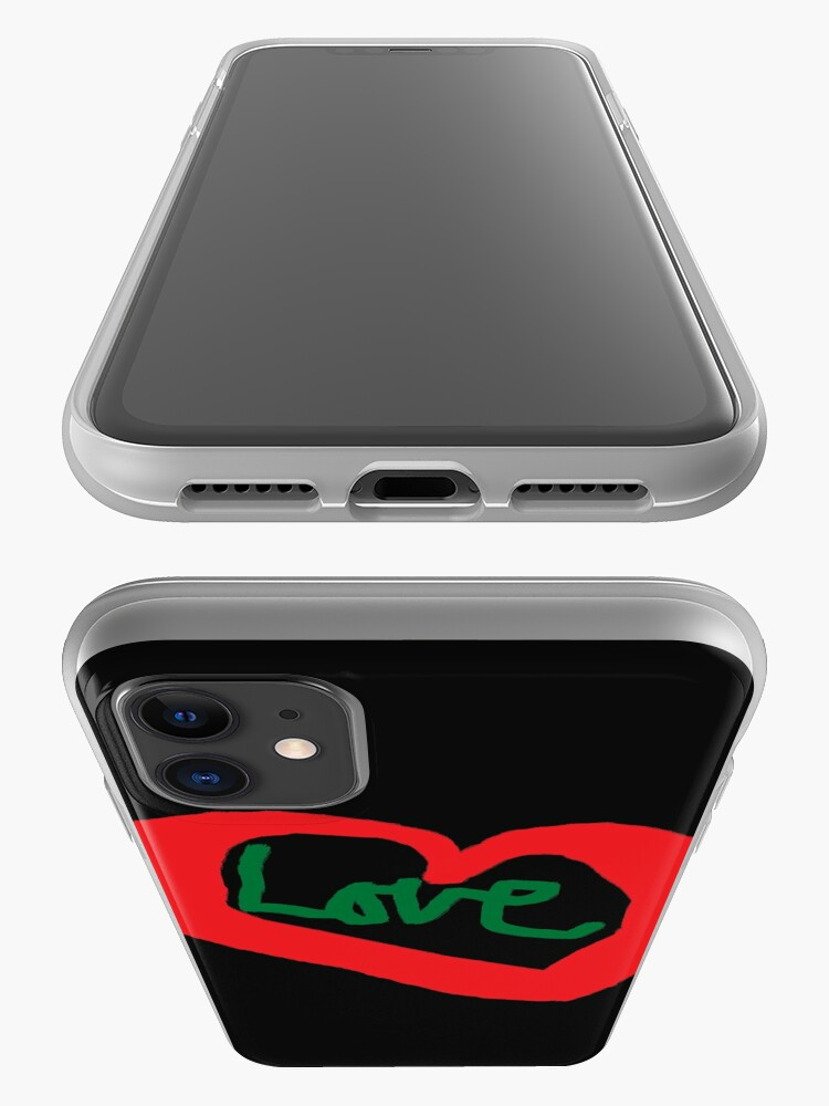 Alternate view of Love T Shirt Red Heart Love Saying  iPhone Case & Cover