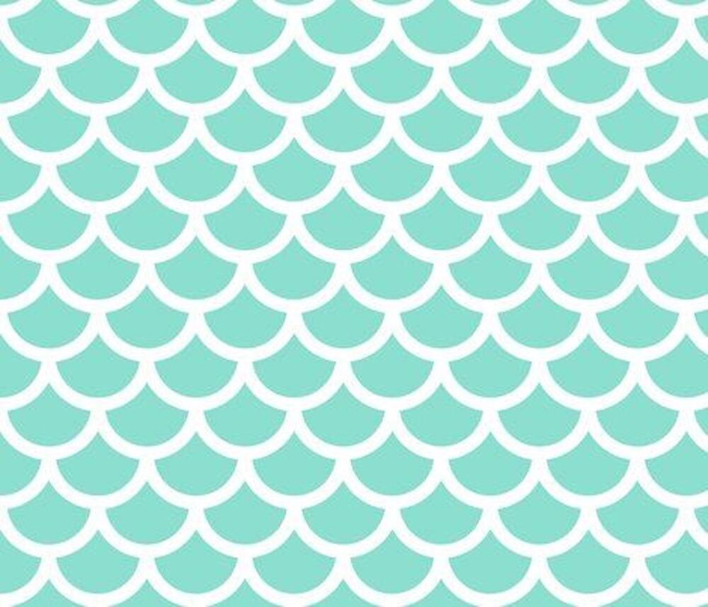 Quot Blue Mermaid Scale Print Quot By Printz Redbubble