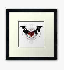 Vampire heart with wings Framed Print