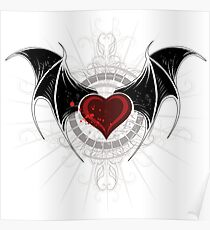 Vampire heart with wings Poster