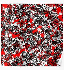 Roses Wild RED Poster