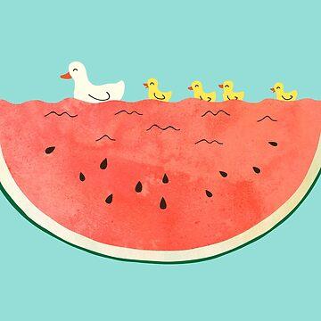 duckies and watermelon by Milkyprint