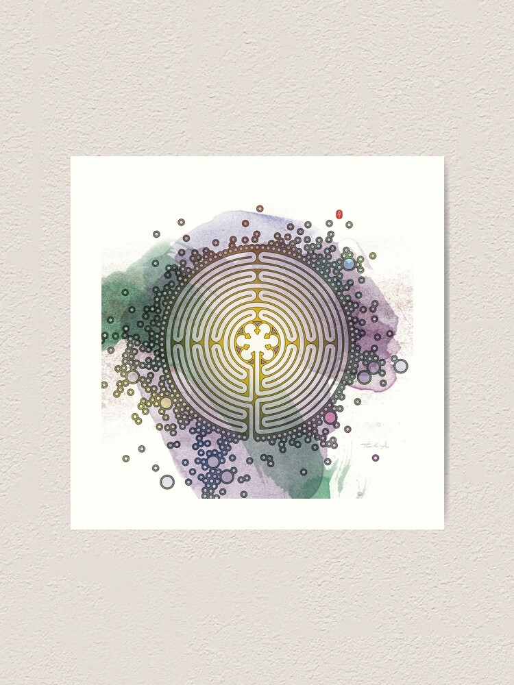 Alternate view of Meditative Labyrinth Art Print