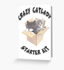 CRAZY CATLADY STARTER KIT 2 Greeting Card