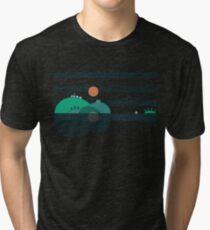 Camiseta de tejido mixto Island Folk