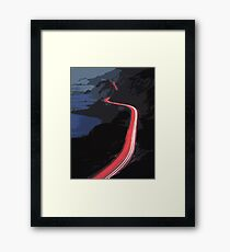 Pacific Coast Highway at night Framed Print