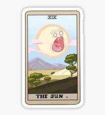Rick & Morty - Screaming Sun Tarot Sticker