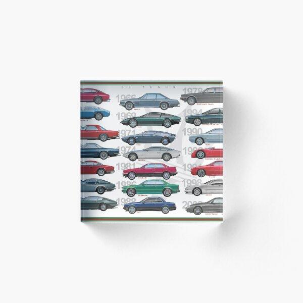 Maserati Poster Acrylic Block
