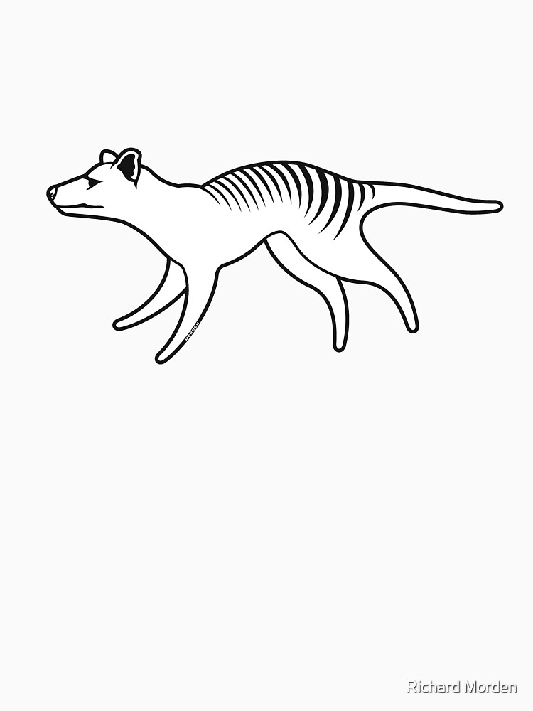 Thylacine running by morden