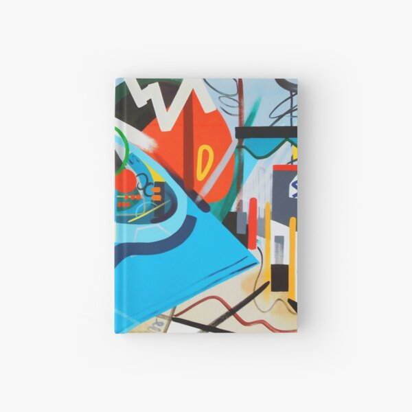 Abstract Blue and Orange Art Print Hardcover Journal