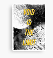 Void Is The Limit Canvas Print
