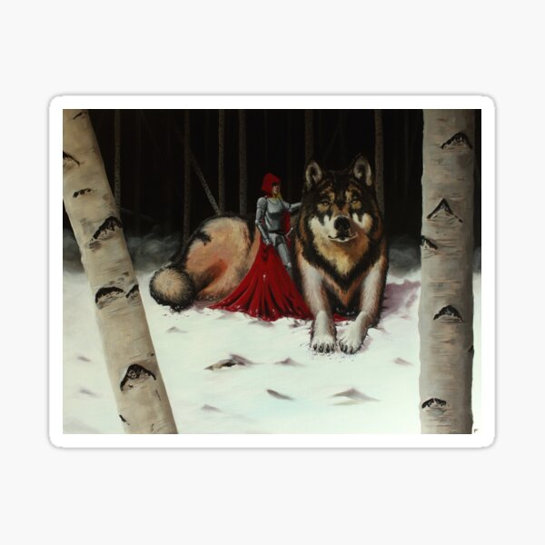 Red and Wolf Sticker