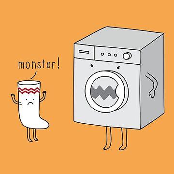 sock eating monster by Milkyprint