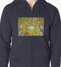 The Green Man of Spring Zipped Hoodie