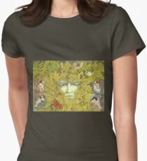 The Green Man of Spring Women's Fitted T-Shirt