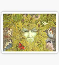 The Green Man of Spring Sticker