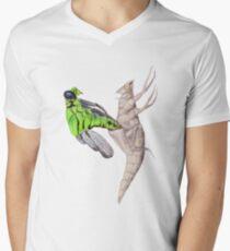 Dragonfly emerging V-Neck T-Shirt