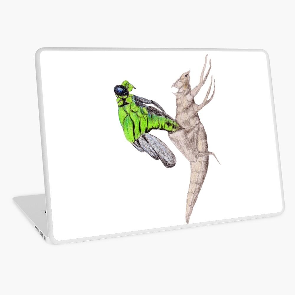 Dragonfly emerging Laptop Skin