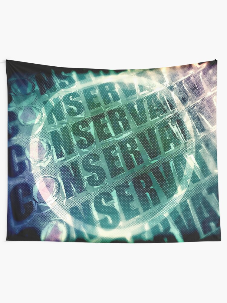 Alternate view of Conservative Words Tapestry
