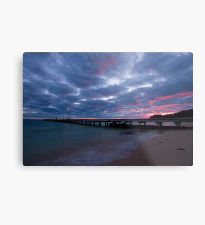 Watching The Clouds Catch Fire Metal Print