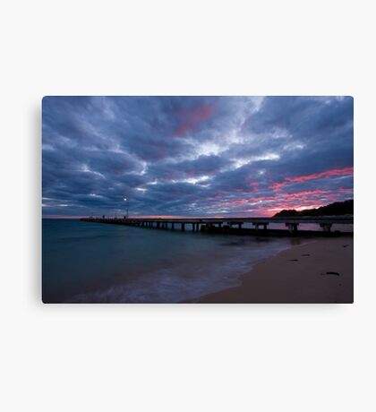 Watching The Clouds Catch Fire Canvas Print