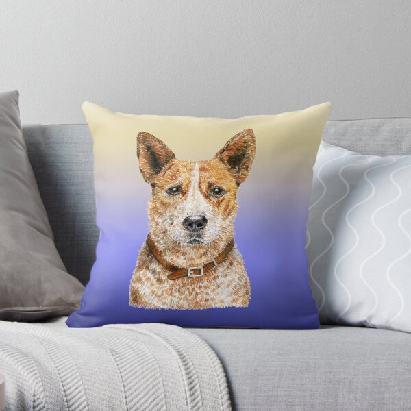 Love Me Love My Australian Cattle Dog - Red Beauty Throw Pillow