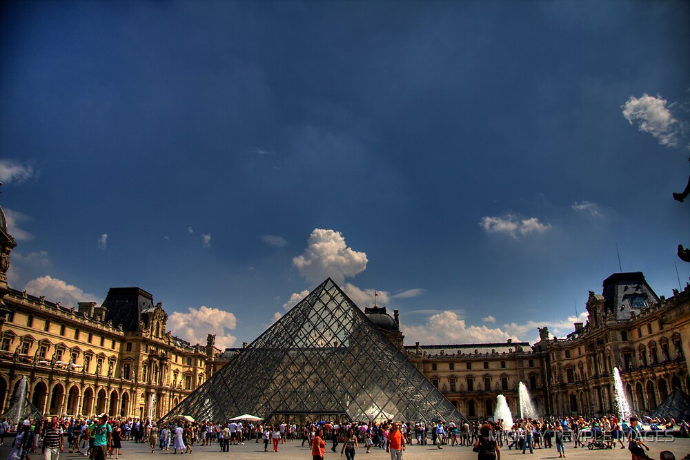 Glass Pyramid by MIGHTY TEMPLE IMAGES