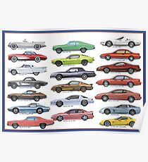 The Best of Chevy - Historical sportcars Poster