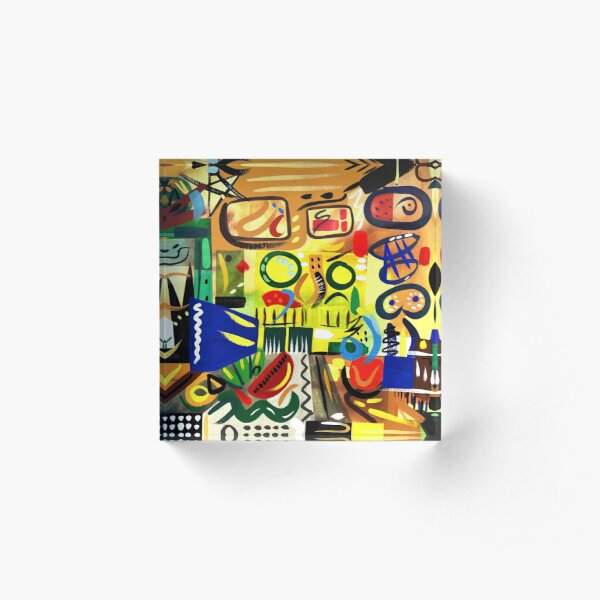 Abstract Interior Art Print Acrylic Block