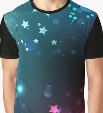 Bright space background with stars. Graphic T-Shirt