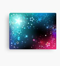 Bright space background with stars. Canvas Print