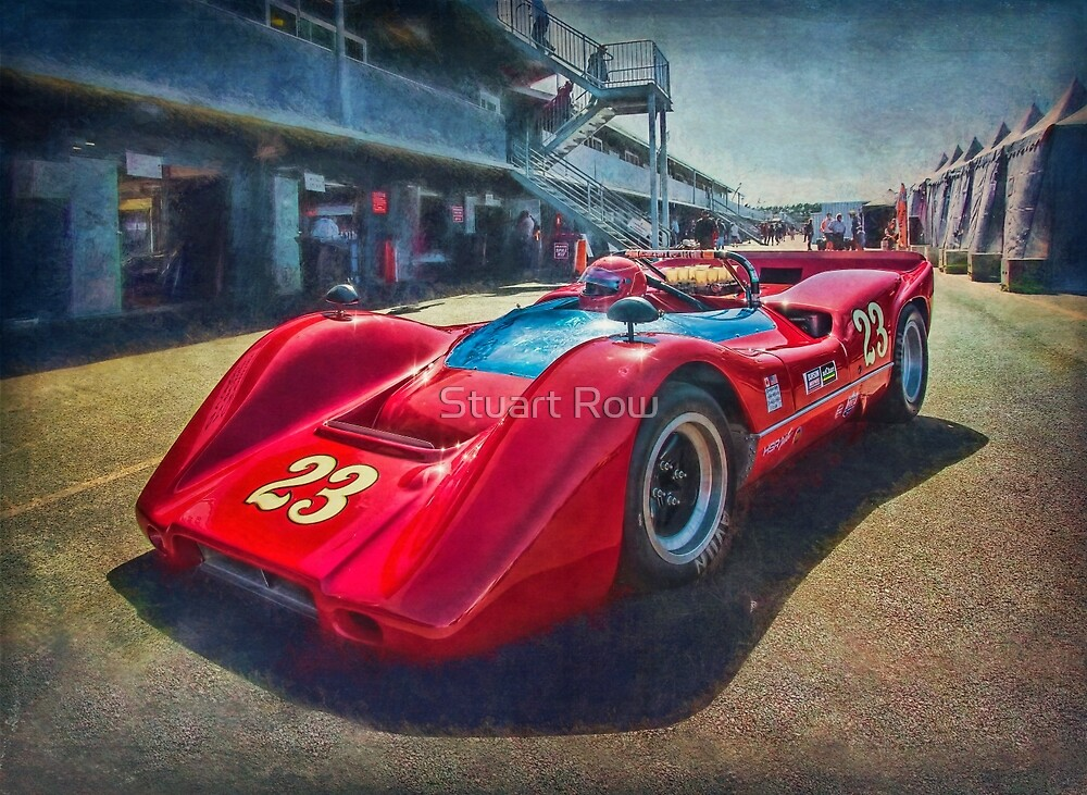 Red Can-Am 1968 McLaren M6B by Stuart Row