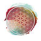 Meditative Flower Of Life by Thoth Adan