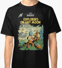Explorers on any Moon, Tin tin, comics, astronaut Classic T-Shirt
