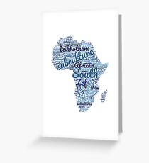 South African Subcultures Greeting Card