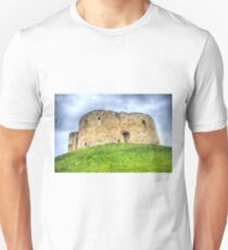 York Castle And Daffodils T-Shirt