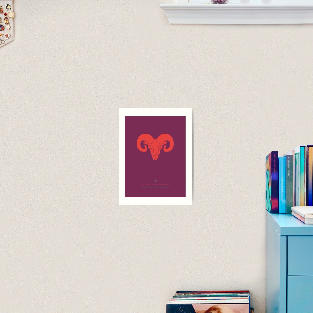 Aries Zodiac / Ram Star Sign Poster Art Print