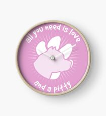 All you need is love and a PITTY - Pink Clock