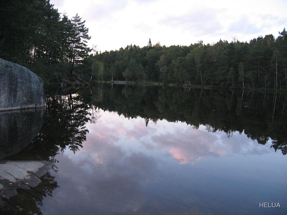 Lake At Night - Reflections by HELUA